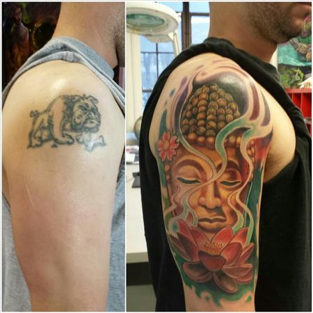 Tattoos - buddah cover up ernesto nave - 86824