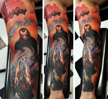 Tattoos - frazetta tribute ernesto nave - 86828
