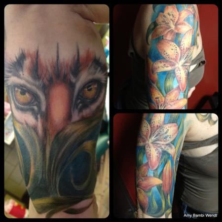 Tattoos - Tiger and tiger lily - 66877
