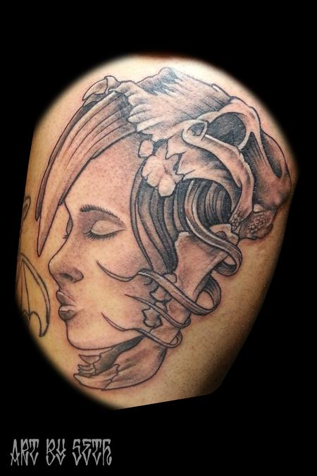 Tattoos - Face and Skull - 114822