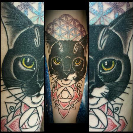 Tattoos - Sacred Geometry Cat - 114812