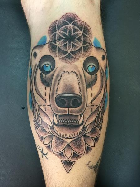 Tattoos - Sacred Geometry Polar Bear - 114807