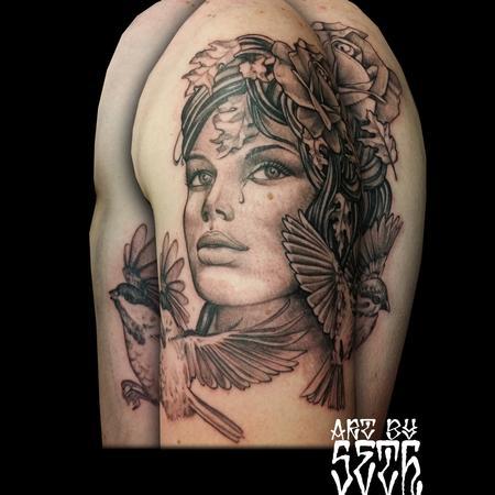 Tattoos - Art Nouveau Woman - 114759