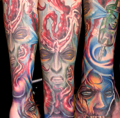 Tattoos - Freehand sleeve in prog... - 26084