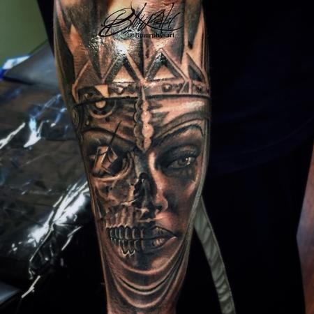Tattoos - Skull morph - 123215