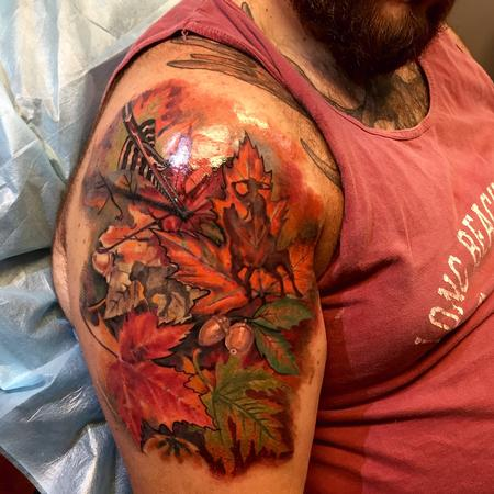 Tattoos - Fall leaves (in progress) - 108038