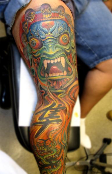 Tattoos - Oriental leg - 29016