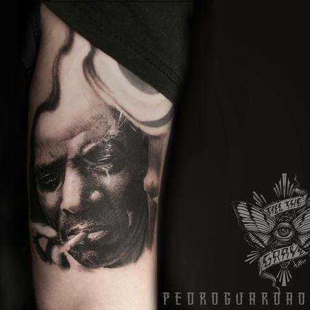 Tattoos - Howlin Wolf portrait done at Oporto tattoo expo. Old blues never die - 116672