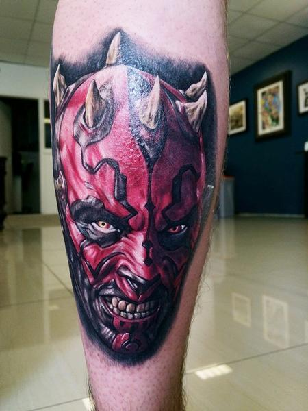 Gigi McQueen - Star Wars Darth Maul Tattoo