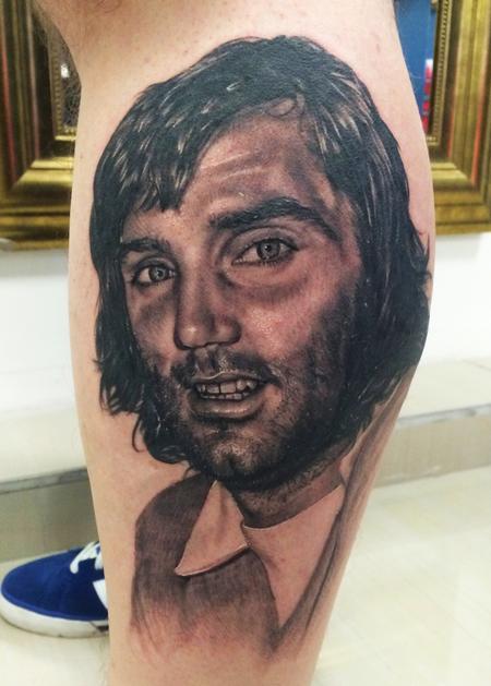 Tattoos - Portrait Tattoo Of United Legend, George Best - 101747