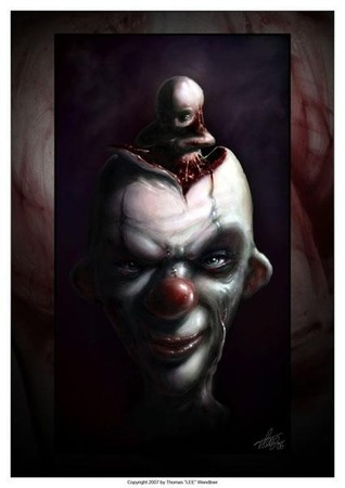 Tommy Lee Wendtner - Clown Fetus Art