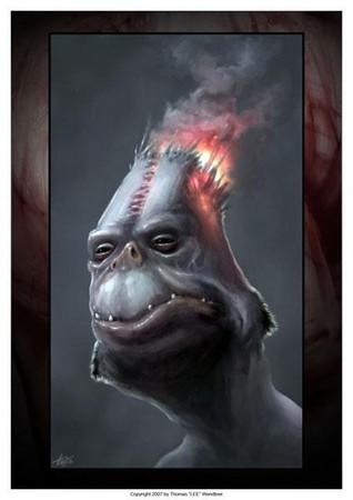 Tommy Lee Wendtner - Fire Head Art