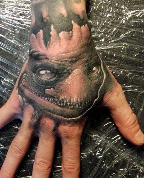 Tattoos - creepy hand tattoo - 51102