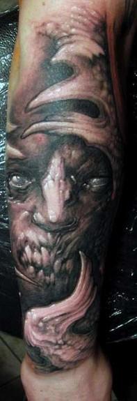 Tattoos - Black and Grey half sleeve - 50983
