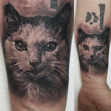 Tommy Lee Wendtner - Cat Portrait Tattoo