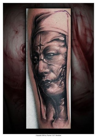 Tattoos - Evil Nun tattoo - 35468