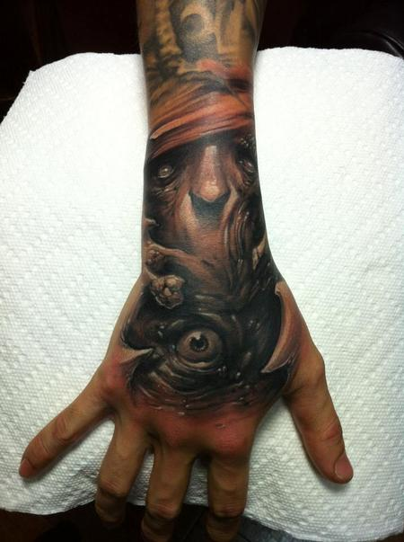 Tattoos - Eye hand tattoo - 60051