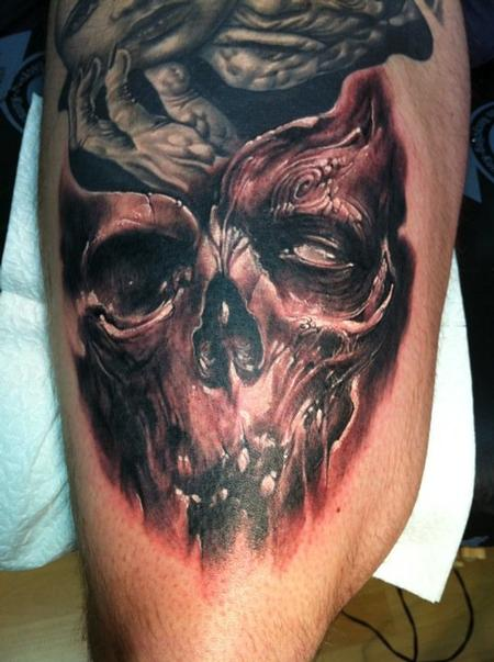 Tattoos - Skull Tattoo - 60052