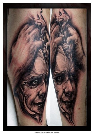 Tattoos - brain splitting tattoo - 35465