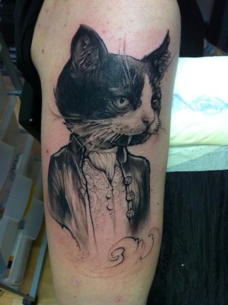 Tattoos - Vampire kitty tattoo - 54745