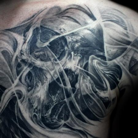Tattoos - Skull chest - 119058