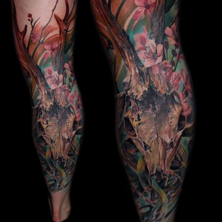 Tattoos - deer skull - 125304