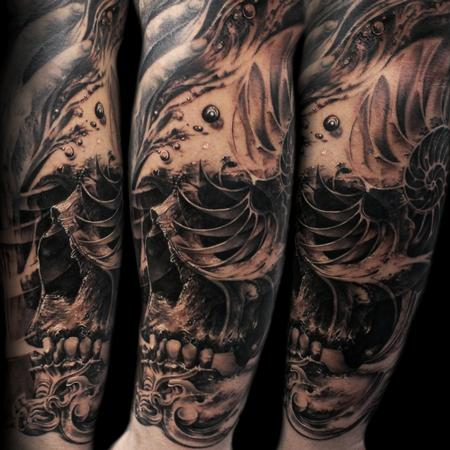 Tattoos - nautilus skull - 125298