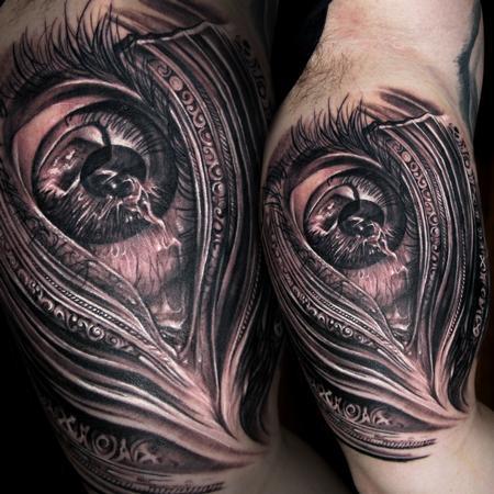 Tattoos - ornamental eye - 98204