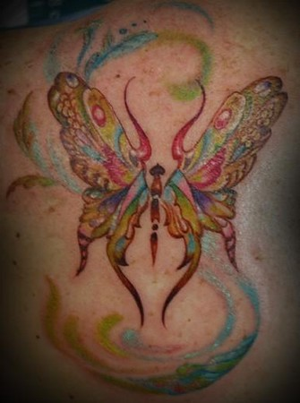 Tattoos - butterfly tattoo - 46248