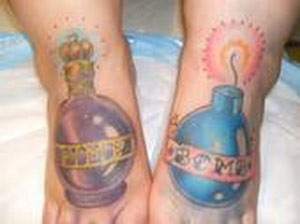 Tattoos - Bomb feet tattoos - 49431