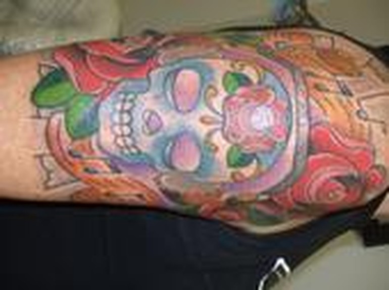 Mimsy - sugar skull traditional tattoo