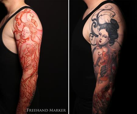 Tattoos - Geisha Sleeve - 129749