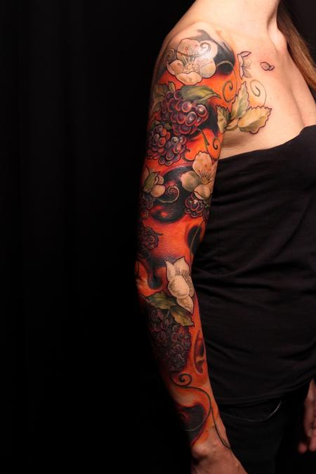 Tattoos - Generational Fruit and Spirit Sleeve - 129731