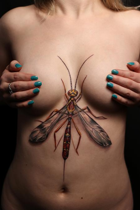 Tattoos - Ichneumon Wasp Reverse Chest Piece - 129517