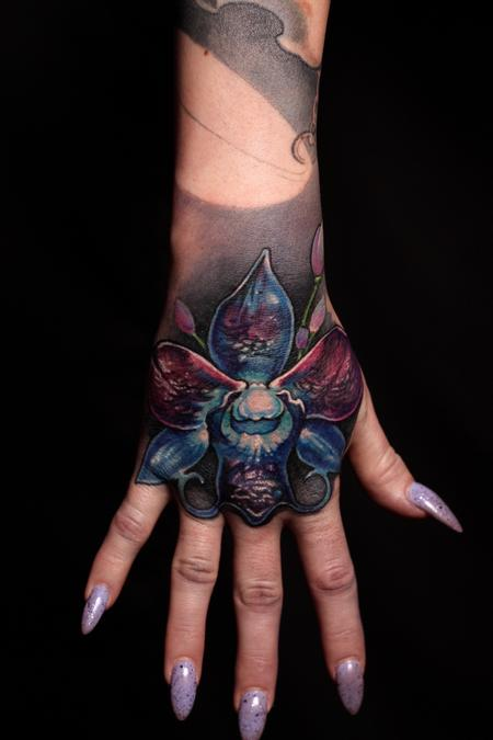Tattoos - Orchid Hand Piece - 129732