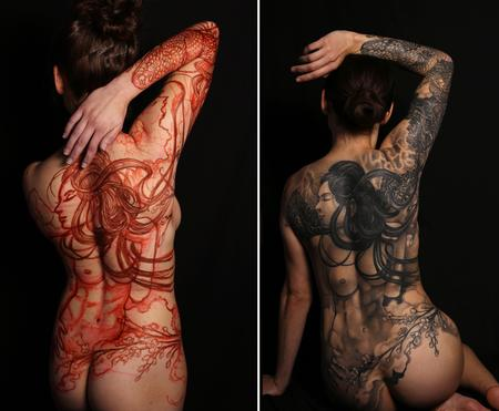 Tattoos - Storm Surrender Full Backpiece - 127673