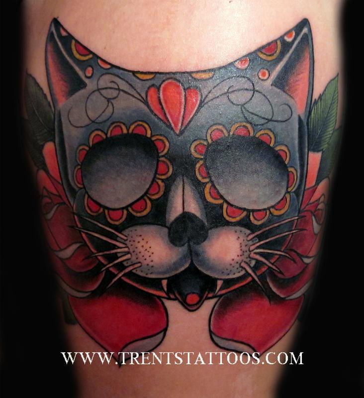Cat Tattoo By Trent Edwards Tattoonow