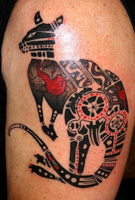 Tattoos - aboriginal kangaroo - 58106