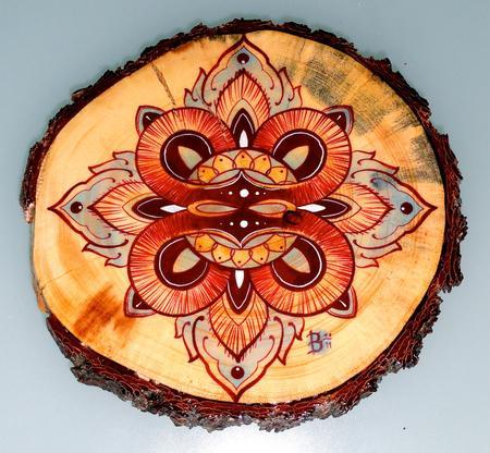 Ben Merrell - mandala on wood