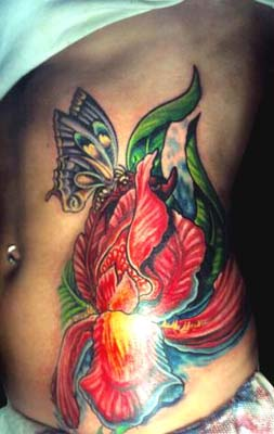 Tattoos - Iris and Butterfly - 14450