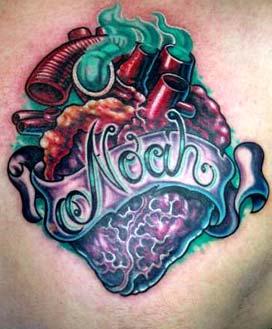 Tattoos - Noah Heart - 14451