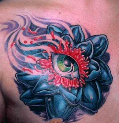 Tattoos - Lotus Eye - 14460