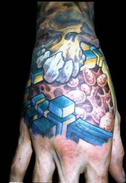 Tattoos - Bio Organic Skulls - 14469