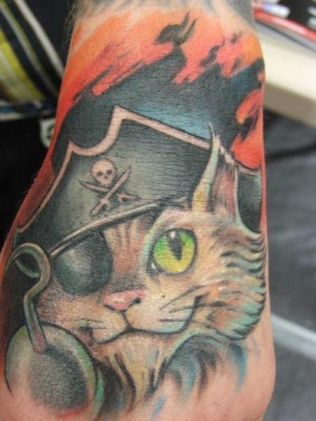 Tattoos - Pirate cat tattoo - 58649