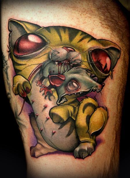 Kelly Doty - Cat nipples tattoo