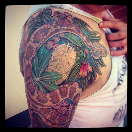 Tattoos - Aussie native half sleeve - 71280