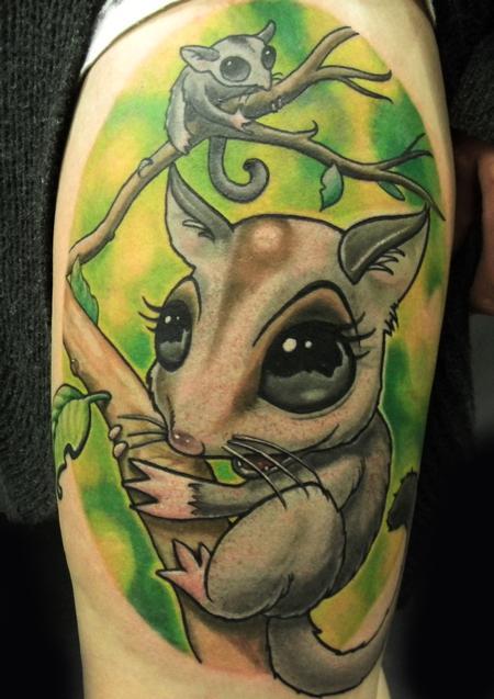 Tattoos - Newschool sugar glider - 116600