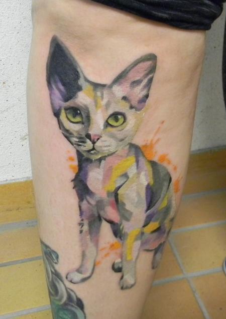 Tattoos - Devon rex cat tattoo - 116599