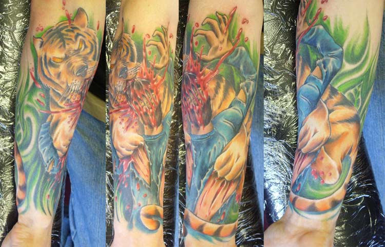 Tiger Rip Wrap By Chad Chase Tattoonow
