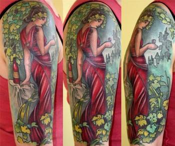 Gregory Di Giacinto  - Mucha Inspired Tattoo